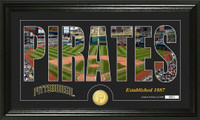 Pittsburgh Pirates Silhouettet Bronze Coin Panoramic Photo Mint