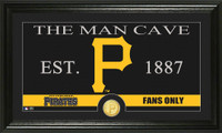 Pittsburgh Pirates The Man Cave Bronze Coin Panoramic Photo Mint