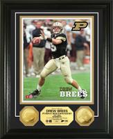 Drew Brees Purdue University 24KT Gold Coin Photo Mint