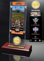 San Francisco Giants World Series Ticket & Bronze Coin Acrylic Desk Top