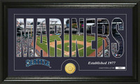 Seattle Mariners Silhouette Bronze Coin Panoramic Photo Mint