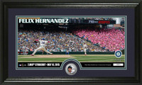 Felix Hernandez 2000th Career Strike Out Silver Coin Panoramic Photo Mint