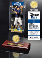 Evan Longoria Ticket & Bronze Coin Acrylic Desk Top