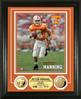 Peyton Manning University of Tennessee 24KT Gold Coin Photo Mint