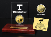 University of Tennessee 24KT Gold Coin Etched Acrylic