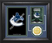 Vancouver Canucks Fan Memories Bronze Coin Desktop Photo Mint