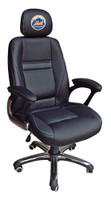New York Mets Head Coach Leather Office Chair