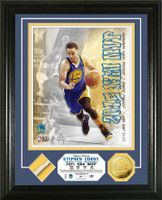 Stephan Curry 2015 MVP Game Used Net Gold Coin Photo Mint