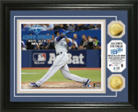 "Kansas City Royals Alcides Escobar 2015 ALCS ""MVP"" 2pc Gold Coin Photo Mint"