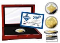 Kansas City Royals 2015 World Series Champs 2-Tone Gold Mint Coin w/Cherry Glass Case