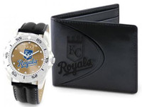 Kansas City Royals Leather Watch and Wallet Set