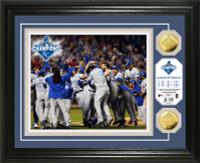"**Kansas City Royals 2015 World Series Champions ""Celebration"" 2pc Gold Coin Photo Mint"
