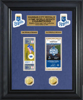 *Kansas City Royals 1985 & 2015 World Series Champions 2pc Gold Coin & Ticket Collection LE 1000