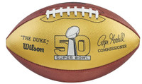 **Super Bowl 50 Limited Edition Gold Football