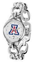Arizona Wildcats Ladies Silver Eclipse AnoChrome Watch