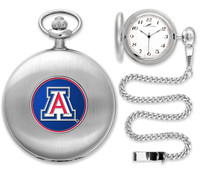 Arizona Wildcats Silver Plated Pocket Watch