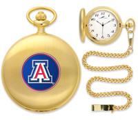 Arizona Wildcats Gold Plated Pocket Watch