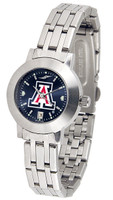 Arizona Wildcats Ladies Silver Stainless Steel Dynasty AnoChrome Watch