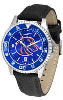 Boise State Broncos Competitor Crimson AnoChrome Leather Watch with Colored Bezel (Men's or Women's)