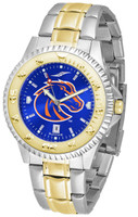 Boise State Broncos Competitor 2-Tone 23k Gold AnoChrome Stainless Steel Watch (Men's or Women's)