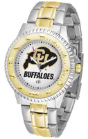 Colorado Buffaloes Competitor 2-Tone 23k Gold Stainless Steel Watch (Men's or Women's)