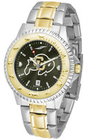 Colorado Buffaloes Competitor 2-Tone 23k Gold AnoChrome Stainless Steel Watch (Men's or Women's)