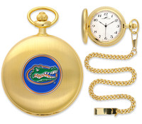 Florida Gators Gold Pocket Watch w/Chain