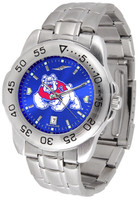 Fresno State Bulldogs Sport Stainless Steel AnoChrome Watch Color Dial (Men's or Women's)
