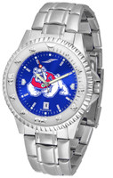 Fresno State Bulldogs Competitor Stainless Steel AnoChrome - Color Dial (Men's or Women's)
