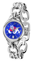Fresno State Bulldogs Ladies Silver Eclipse Link AnoChrome Watch - Color Dial