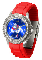 Fresno State Bulldogs Sparkle AnoChrome Sport  Watch - Red Silicone Band