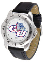 Gonzaga Bulldogs Sport Leather Watch White Dial (Men's or Women's)