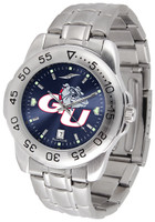 Gonzaga Bulldogs Sport Stainless Steel AnoChrome Watch Blue Dial (Men's or Women's)