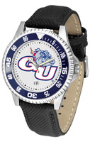 Gonzaga Bulldogs Competitor Leather Watch White Dial (Men's or Women's)
