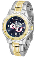 Gonzaga Bulldogs Competitor 2-Tone 23k Gold AnoChrome Stainless Steel Watch - Blue Dial (Men's or Women's)