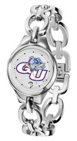 Gonzaga Bulldogs Ladies Silver Eclipse Link Watch - White Dial