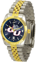 Gonzaga Bulldogs Executive  2-Tone 23k Gold AnoChrome Stainless Steel Watch - Red Dial (Men's or Women's)