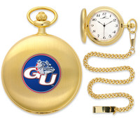 Gonzaga Bulldogs Gold Pocket Watch w/Chain