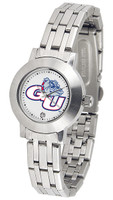 Gonzaga Bulldogs Ladies Silver Stainless Steel Dynasty Watch - White Dial