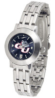 Gonzaga Bulldogs Ladies Silver Stainless Steel Dynasty AnoChrome - White Red Dial