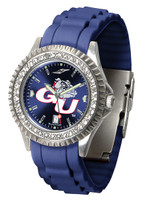 Gonzaga Bulldogs Sparkle AnoChrome Sport  Watch - Red Silicone Band