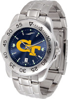 Georgia Tech Yellow Jackets Sport Stainless Steel AnoChrome Watch Red Dial (Men's or Women's)
