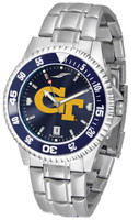 Georgia Tech Yellow Jackets Competitor Stainless Steel AnoChrome - Red Dial (Men's or Women's)