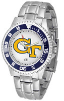 Georgia Tech Yellow Jackets Competitor Stainless Steel Watch - White Dial (Men's or Women's)