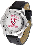 Indiana Hoosiers Sport Leather Watch White Dial (Men's or Women's)