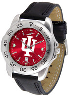 Indiana Hoosiers Sport Leather AnoChrome Watch Red Dial (Men's or Women's)