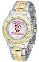 Indiana Hoosiers Competitor 2-Tone 23k Gold Stainless Steel Watch - White Dial (Men's or Women's)