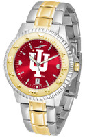 Indiana Hoosiers Competitor 2-Tone 23k Gold AnoChrome Stainless Steel Watch - Red Dial (Men's or Women's)