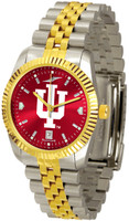 Indiana Hoosiers Executive  2-Tone 23k Gold AnoChrome Stainless Steel Watch - Red Dial (Men's or Women's)