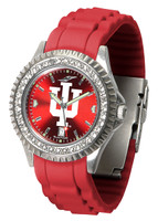 Indiana Hoosiers Sparkle AnoChrome Sport  Watch - Red Silicone Band